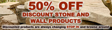Discount stone and wall products
