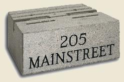 Engraved Wall Block