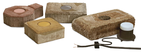 Low Voltage Paver Wall Lights : Lighting for your driveway or patio.- Wall and Paver Lighting
